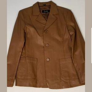 Excelled Genuine vintage leather jacket/blazer